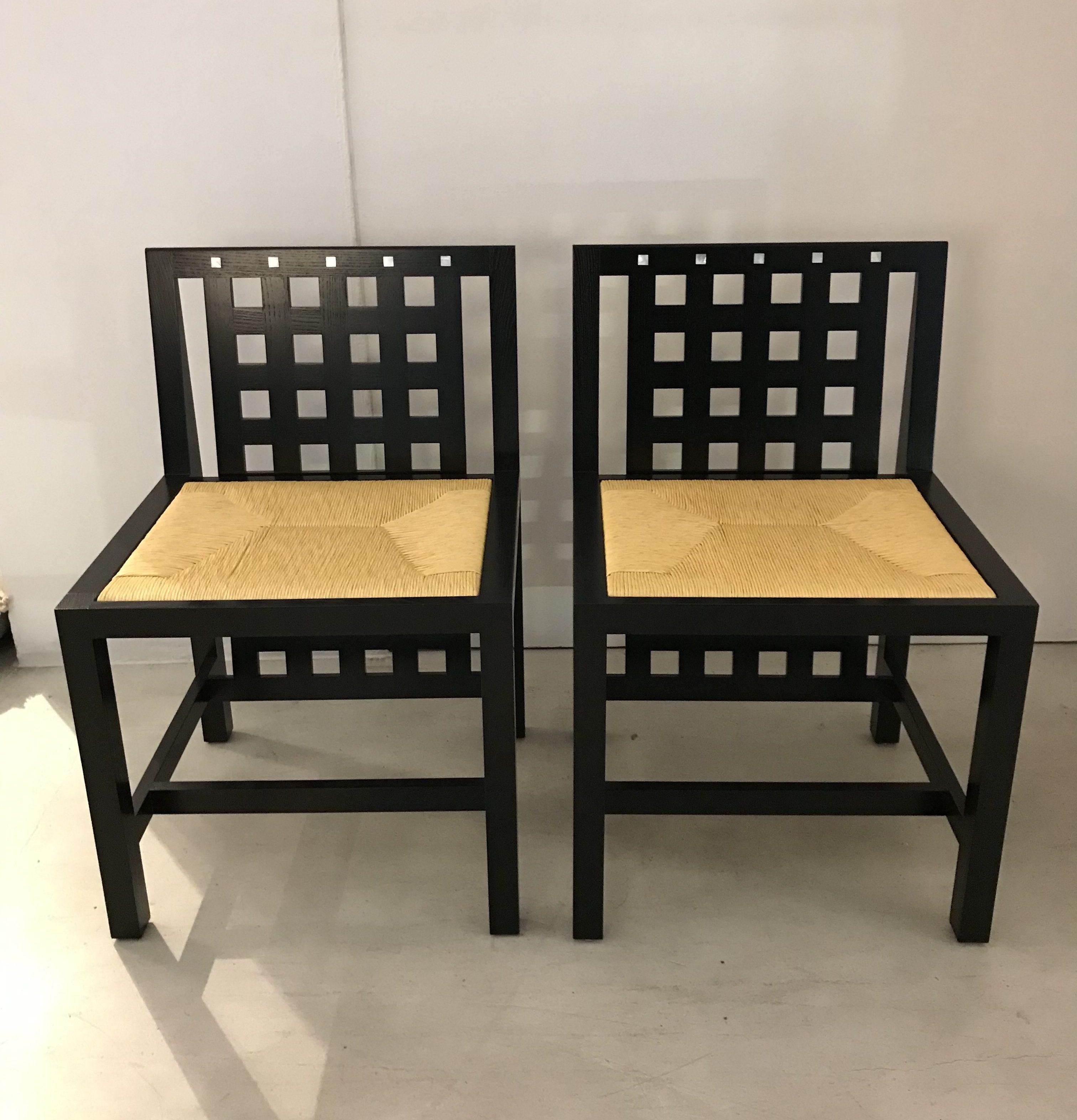DS3 chair design Charles Rennie Machintosh original Cassina Made in Italy