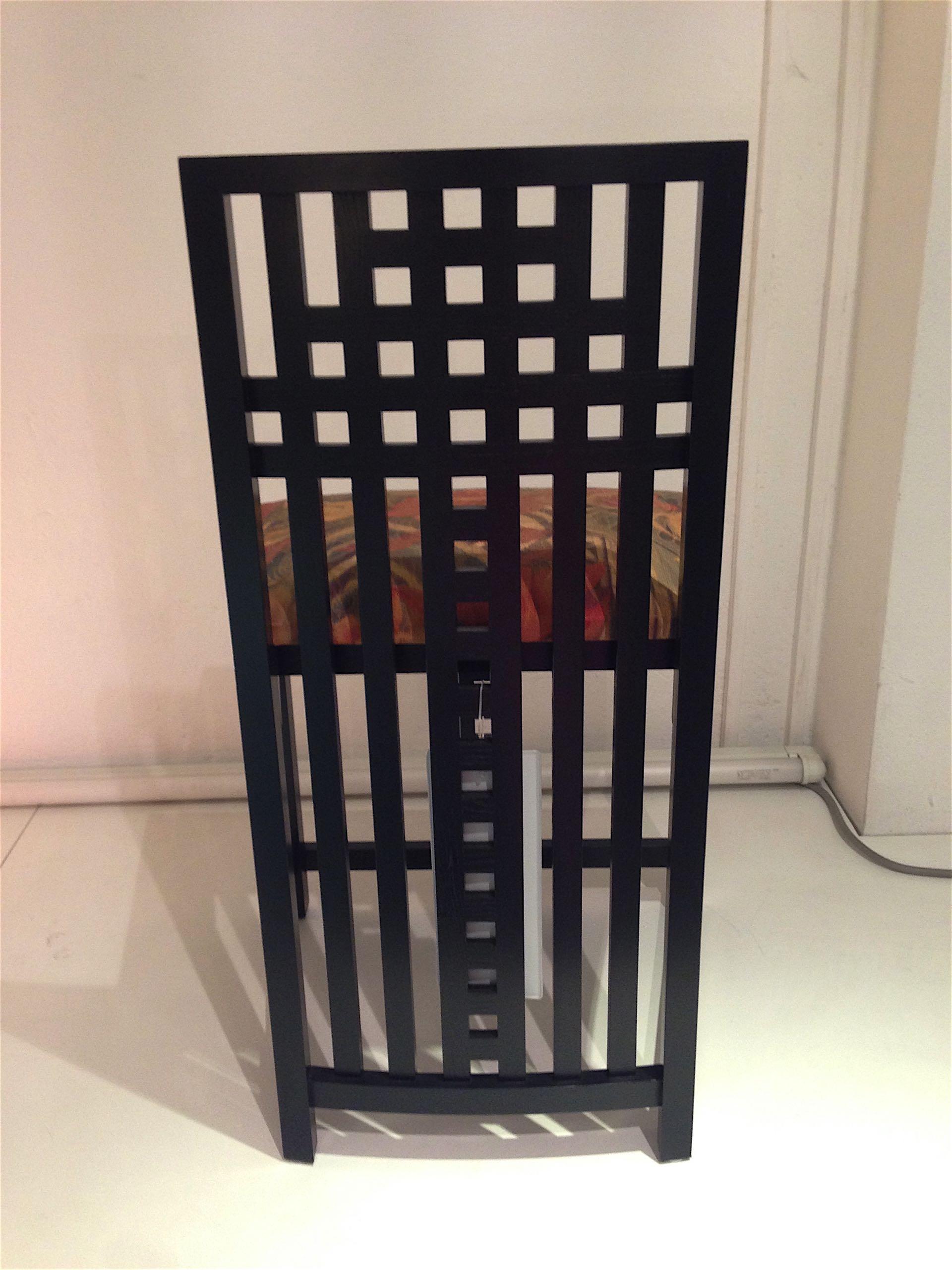 seduta design Charles Rennie Mackintosh original Cassina Made in Italy