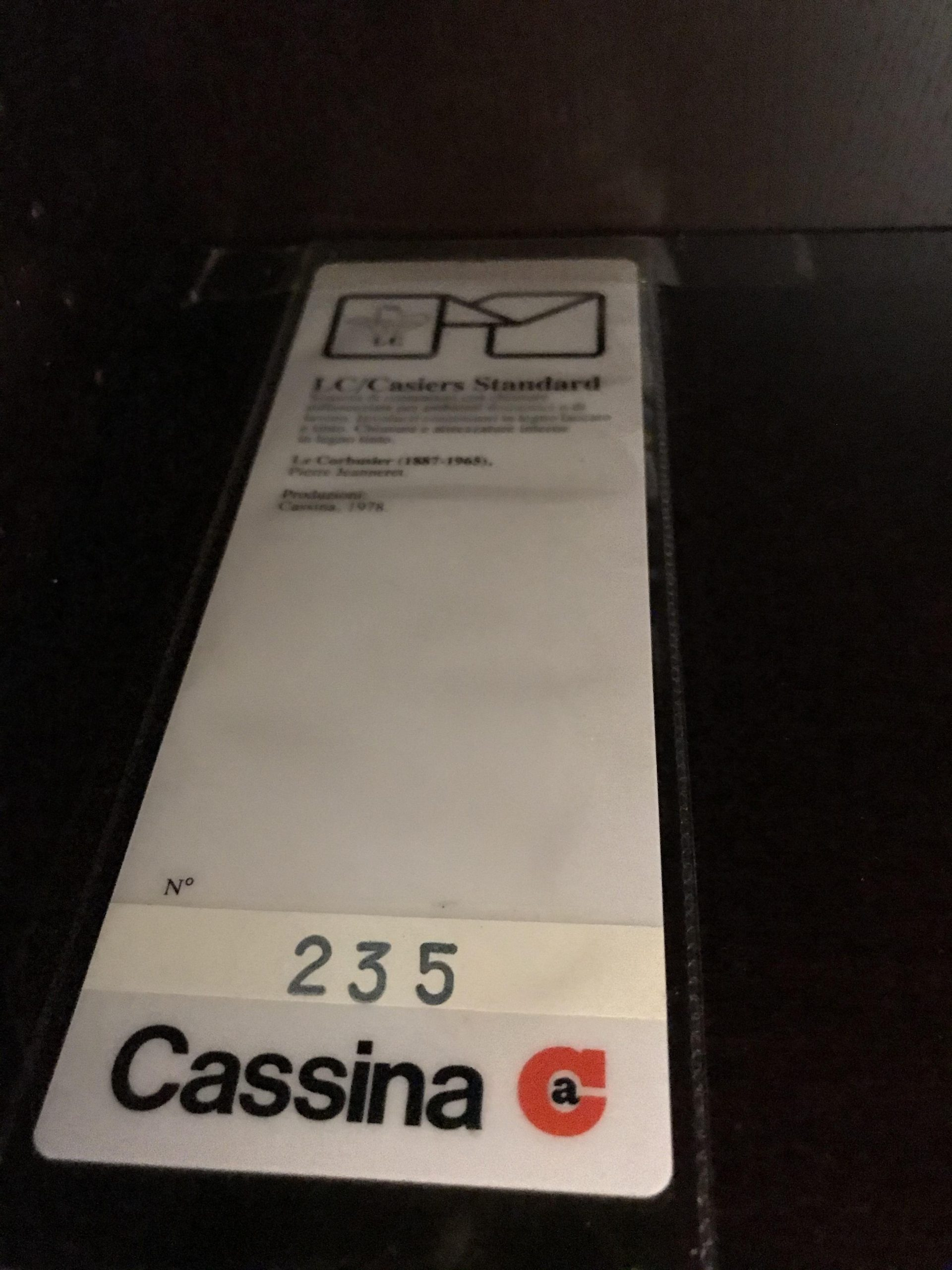 LC20 CASIERS STANDARD Le Corbusier Cassina original design Made in Italy