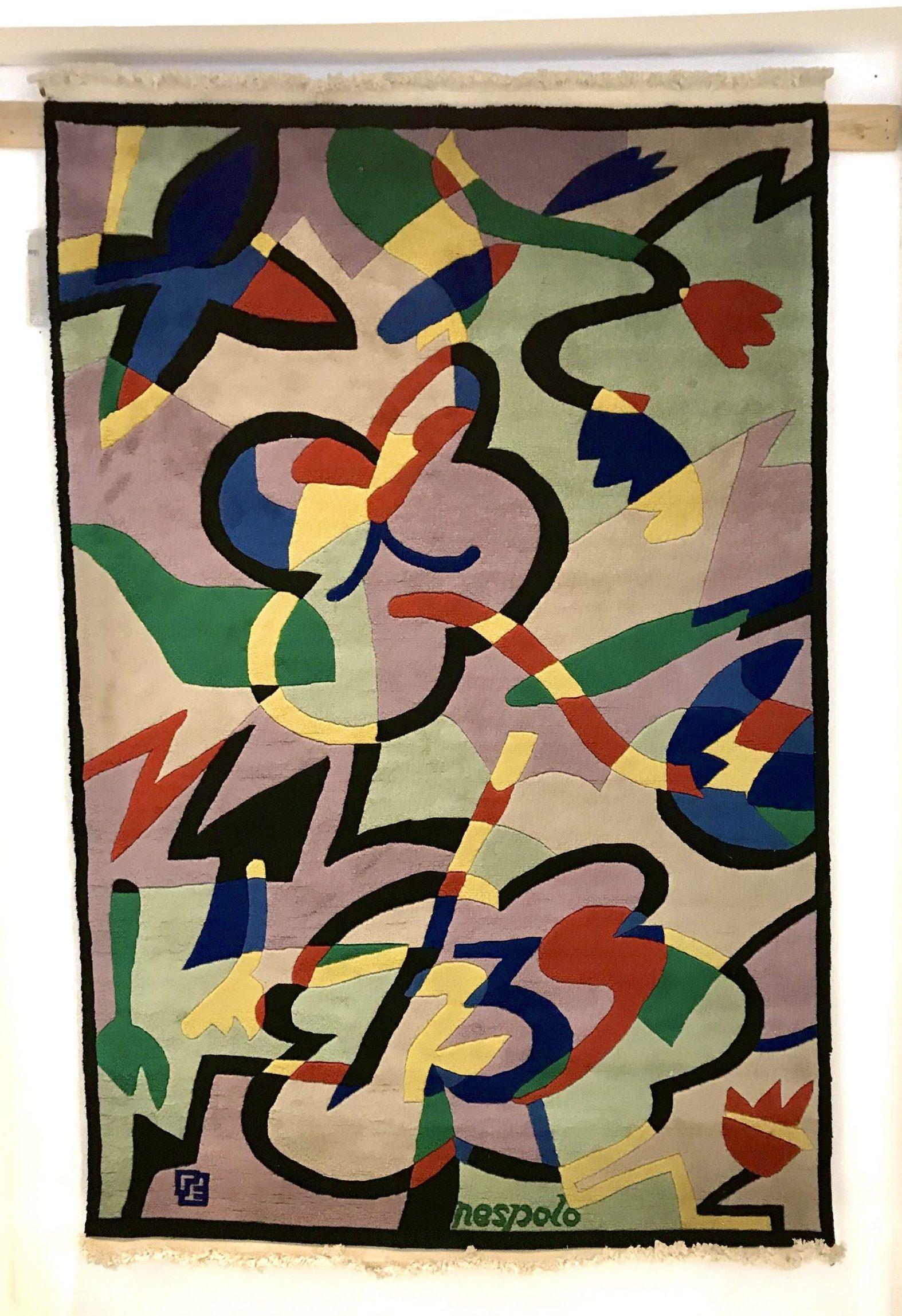 花和蝴蝶地毯Ugo Nespolo Elio Palmisano原厂意大利制造