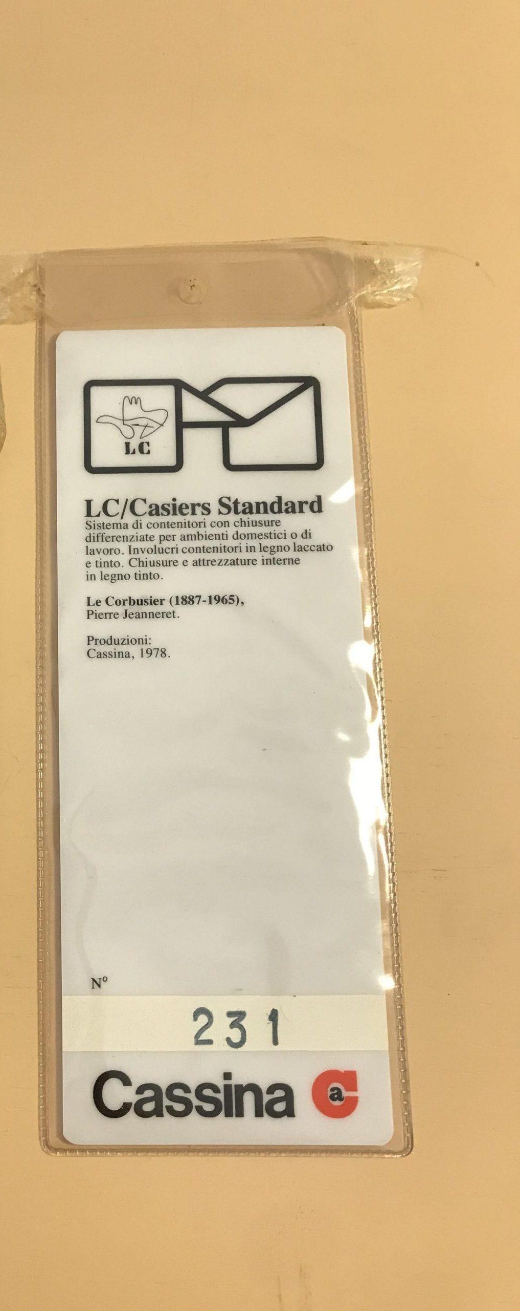 르 코르뷔지에 카시 나 이탈리아 제 오리지널 디자인 Casiers Standard LC20